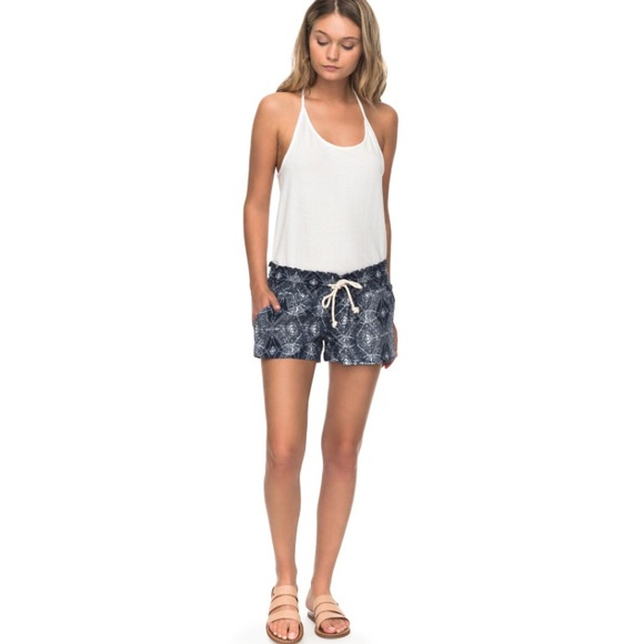 a7da5bdbbc Roxy Shorts | New Oceanside Blue Chamane Small | Poshmark